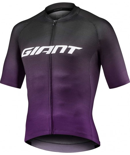 Giant Race Day Short Sleeve Jersey Black/Mulberry