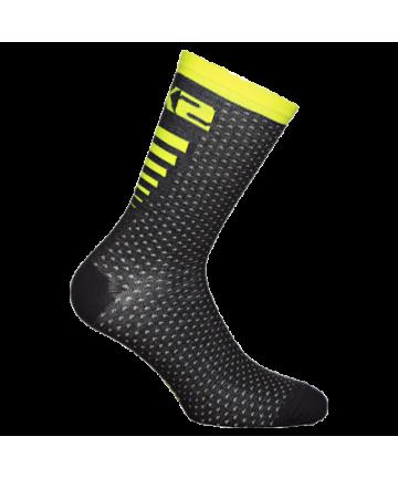 Six2 Socks Arrow Merinos Yellow/Black Carbon size 43-46