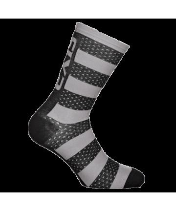 Six2 Socks Luxury Merinos Grey/Black Carbon size 39-42