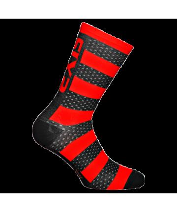 Six2 Socks Luxury Merinos Red/Black Carbon size 43-46