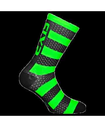 Six2 Socks Luxury Merinos Green Fluo size 43-46