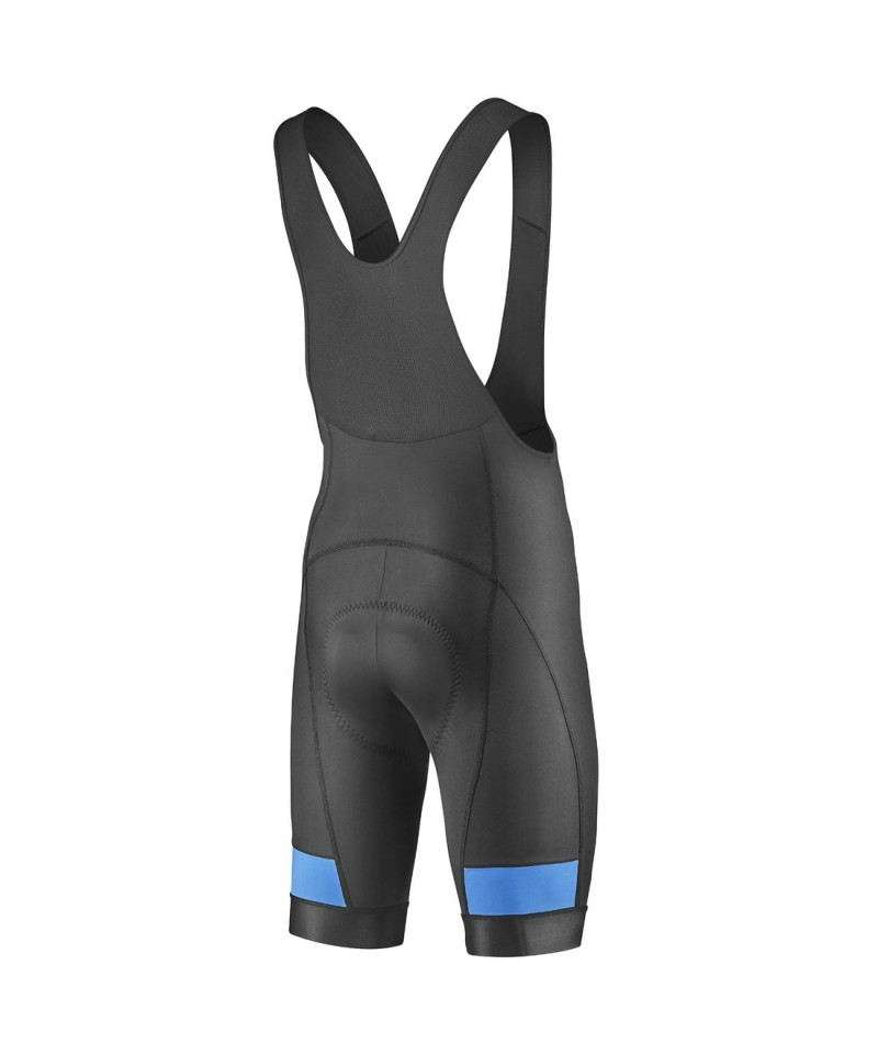Giant Rival Bibshort Black/Cyan Size Large