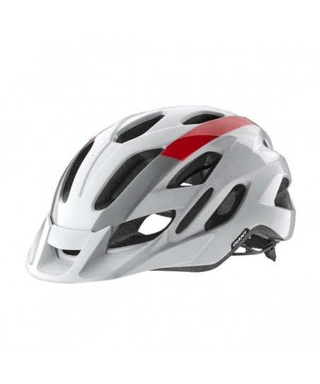 Giant Compel MIPS Helmet Gloss White/Red/Gray